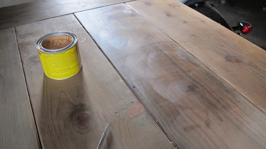 Waxing A Raw Pine Wood Table Merrypad