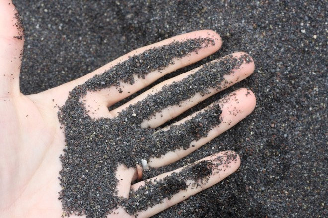 Azores black sand.