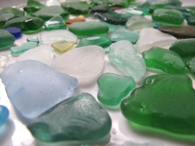 Pretty Azores beach glass.