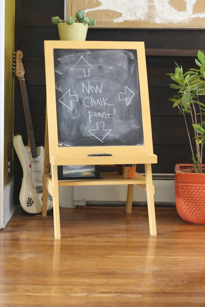 Chalkboard painting, complete.