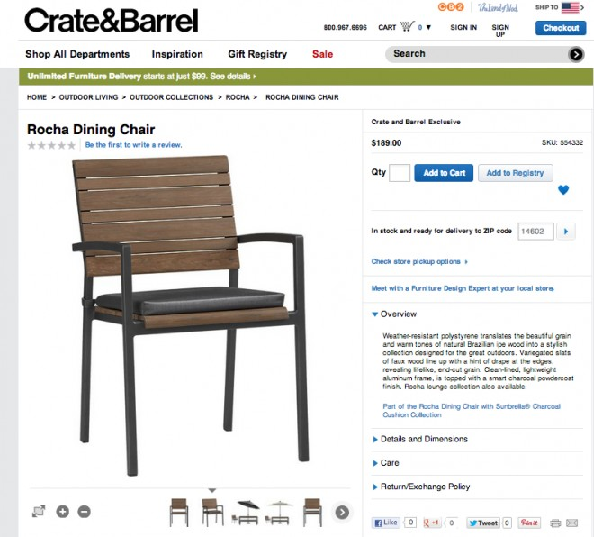 Rocha deck chairs.