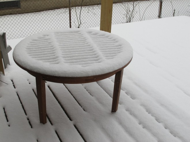 A Patio Eucalyptus Table Addition Merrypad