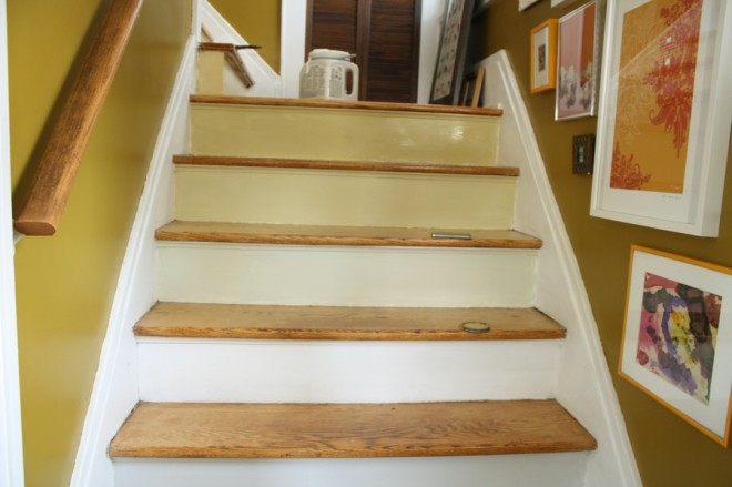 That time I messed up painting the stairs ombre.