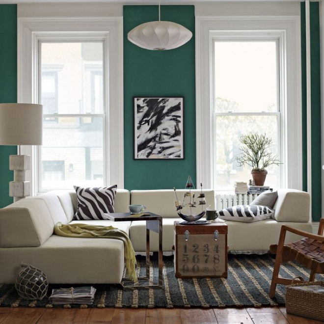 Brilliant living room, as seen on West Elm.