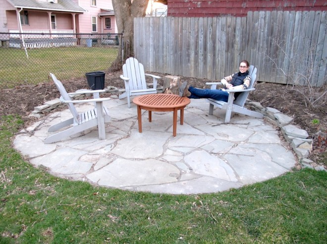 The new flagstone patio coffee table.