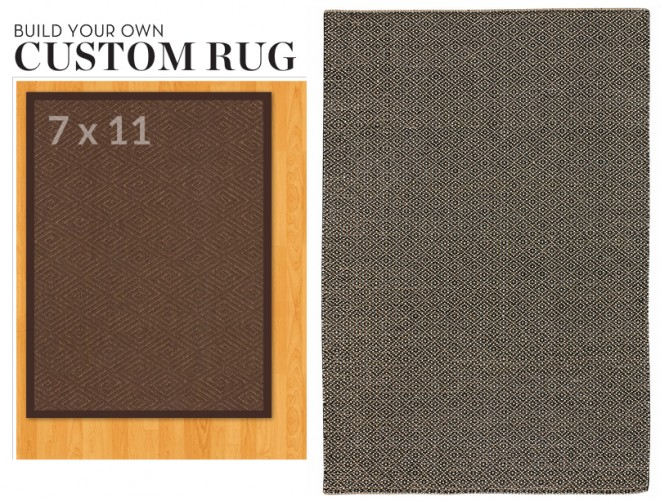Rugs from Pottery Barn and Overstock.
