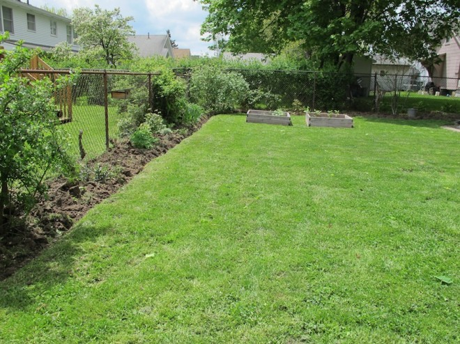 A better backyard with easy weeding and edging.
