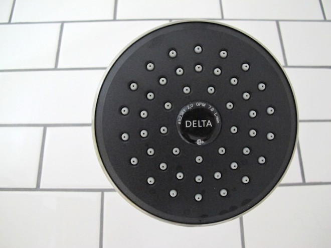 New Delta showerhead for the bathroom.