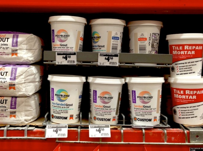 Grout finds at The Home Depot.