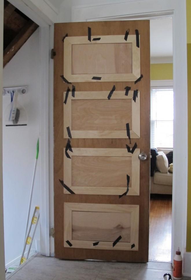 Kitchen door paneling.