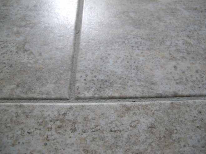Finished kitchen floor post-regrout.