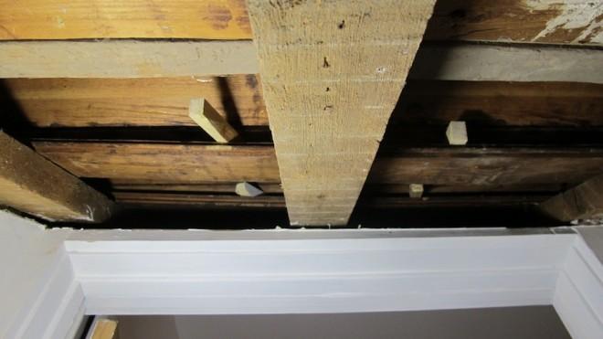 Squeaky stair repairs.