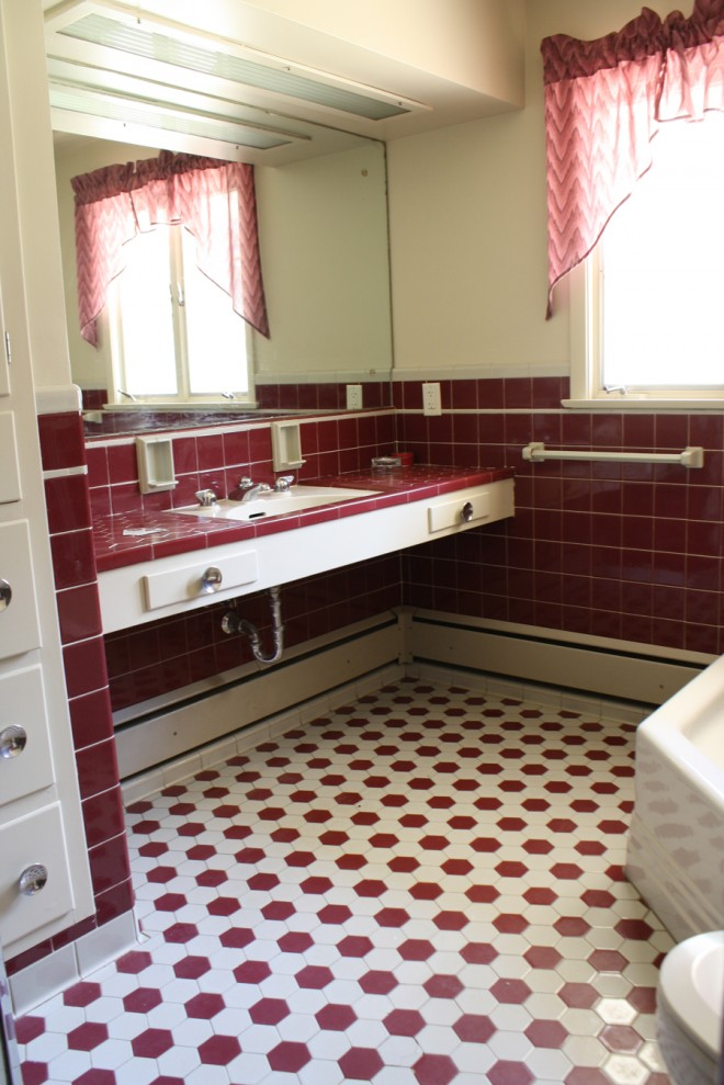The bathroom, before.