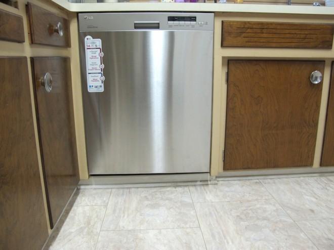 Kitchen Dishwasher, stainless LG model.