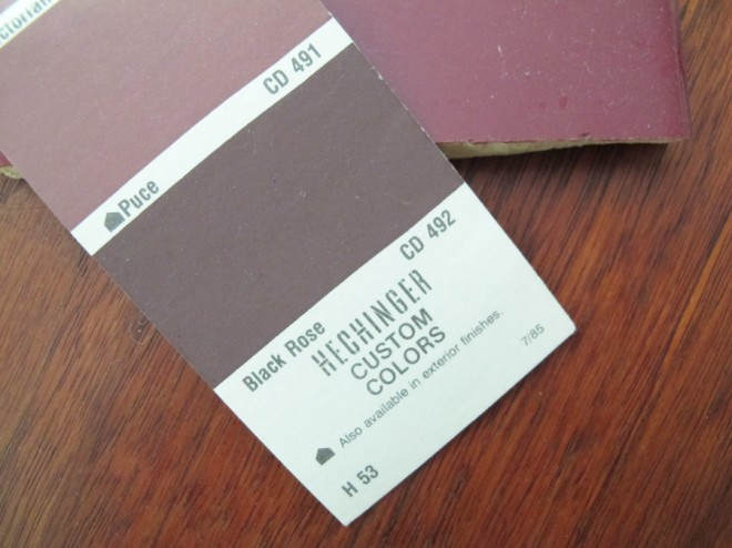 Hechinger paint swatch.