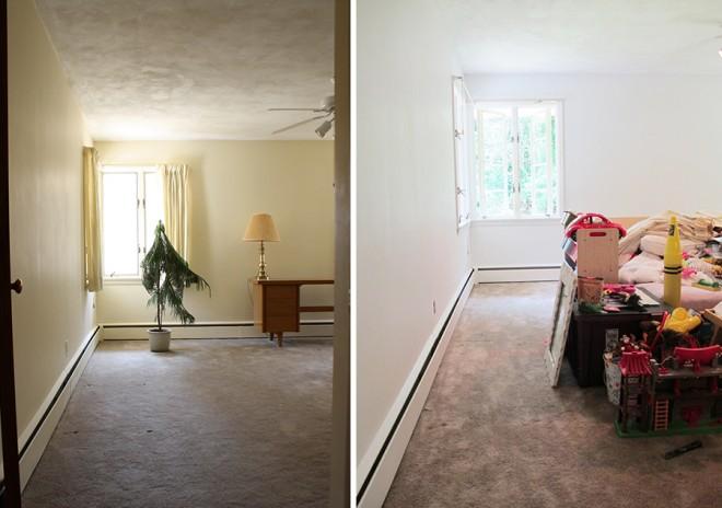 Julia's bedroom, post priming.