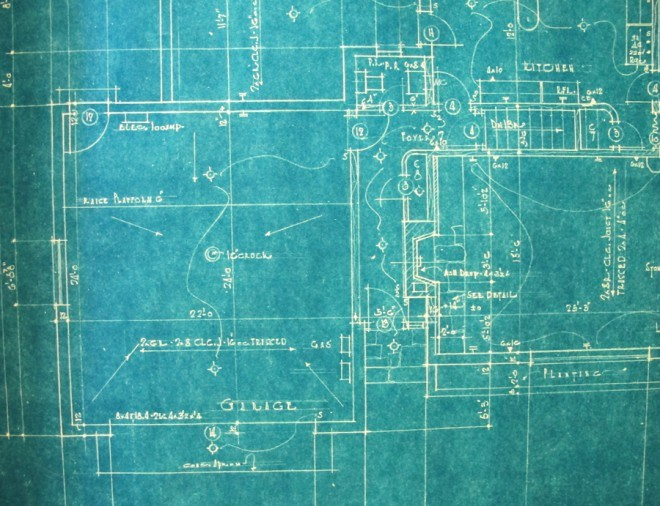 A detailed floor plan of our 1951 home.