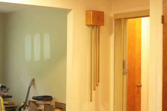 Our pretty mid-century doorbell chimes.