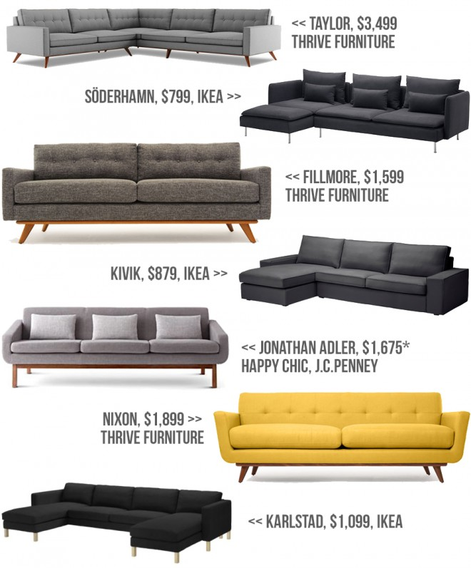 Couch Inspiration for our mid-century modern ranch.