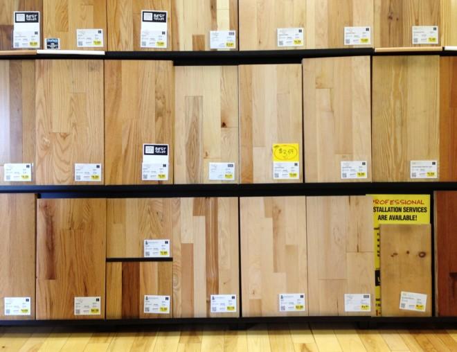 Hardwood flooring displays!
