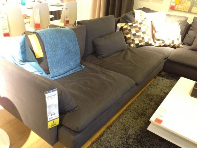 IKEA SÖDERHAMN, bad butt seat wear.