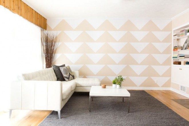 Mur Tiles, Triangles. So modern and cool and perfect for our girl's room.