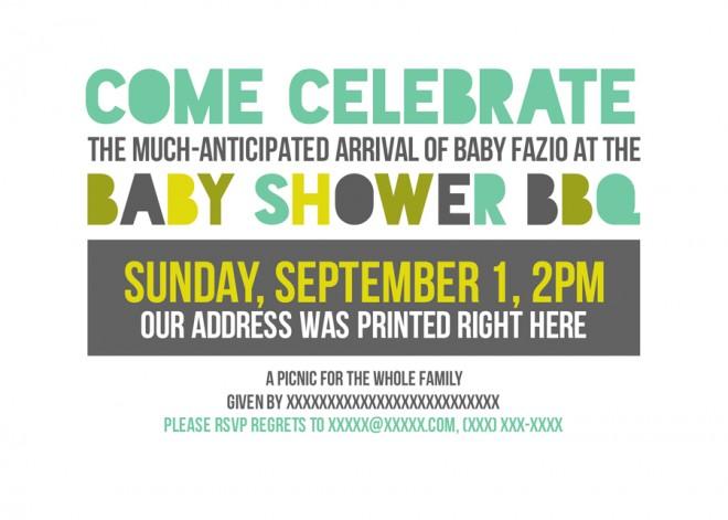 Happy Baby Shower BBQ Invite.