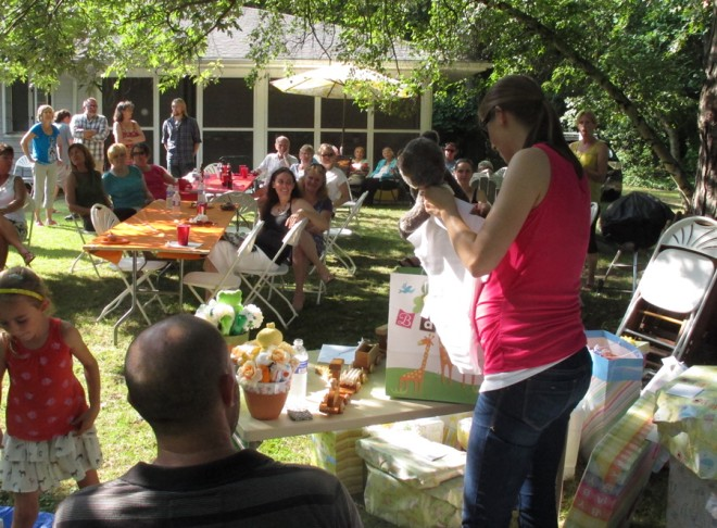 Our sweet backyard baby shower BBQ.