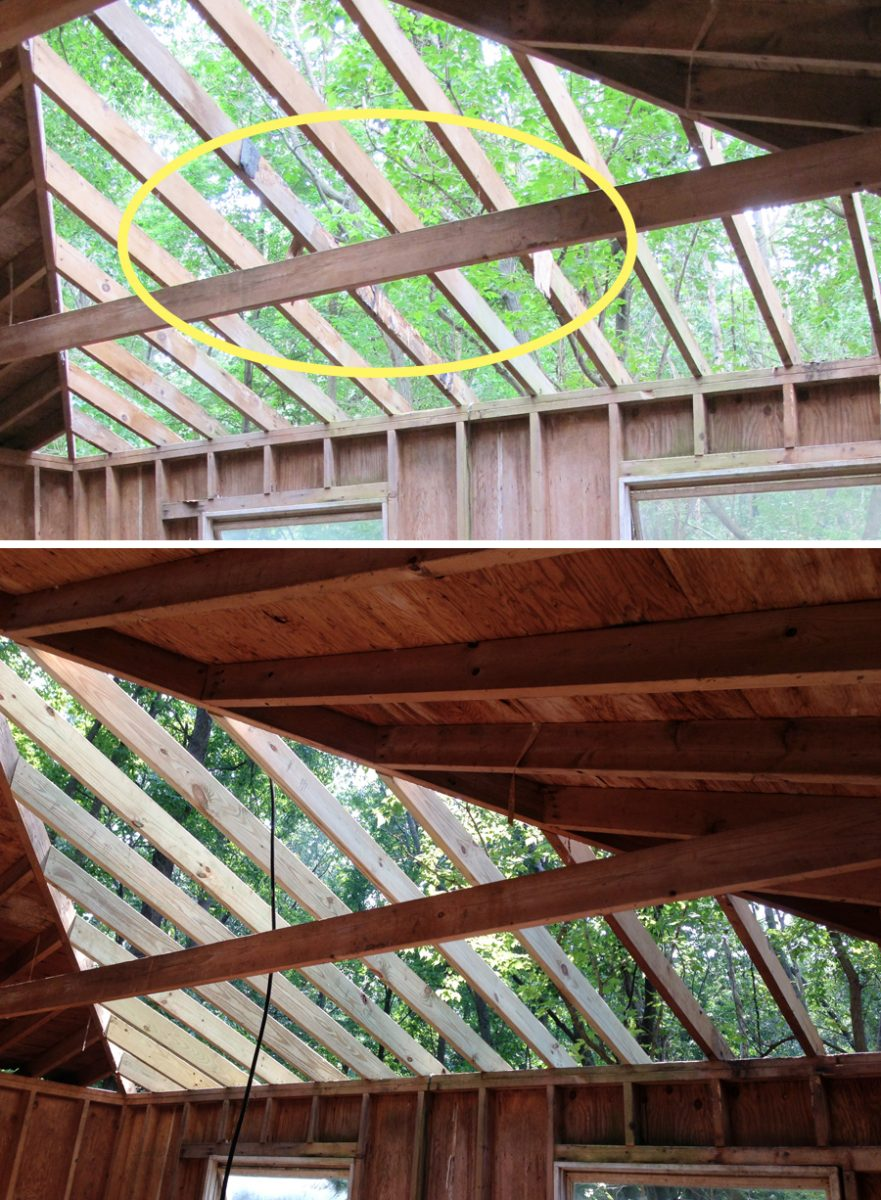 Replacing Roof Rafters Amp Roof Truss Bowed And Showing