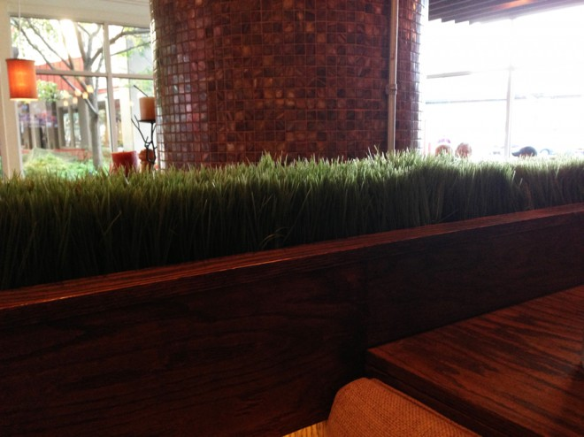 Faux-grass at The Gate House.