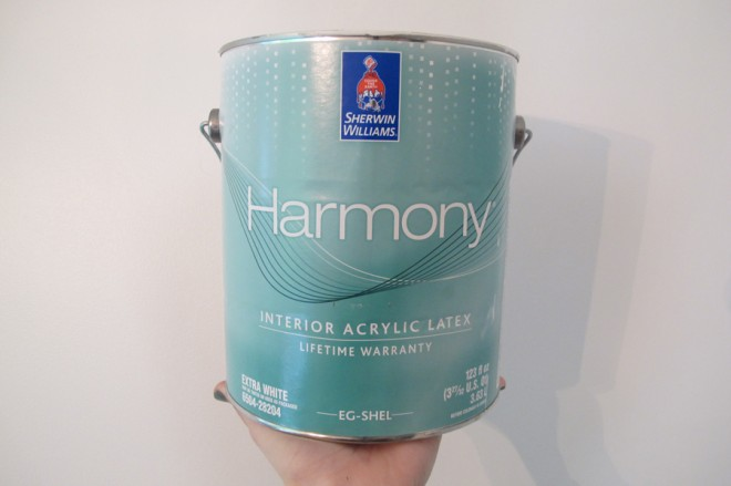 Harmony Zero VOC paint by Sherwin-Williams.