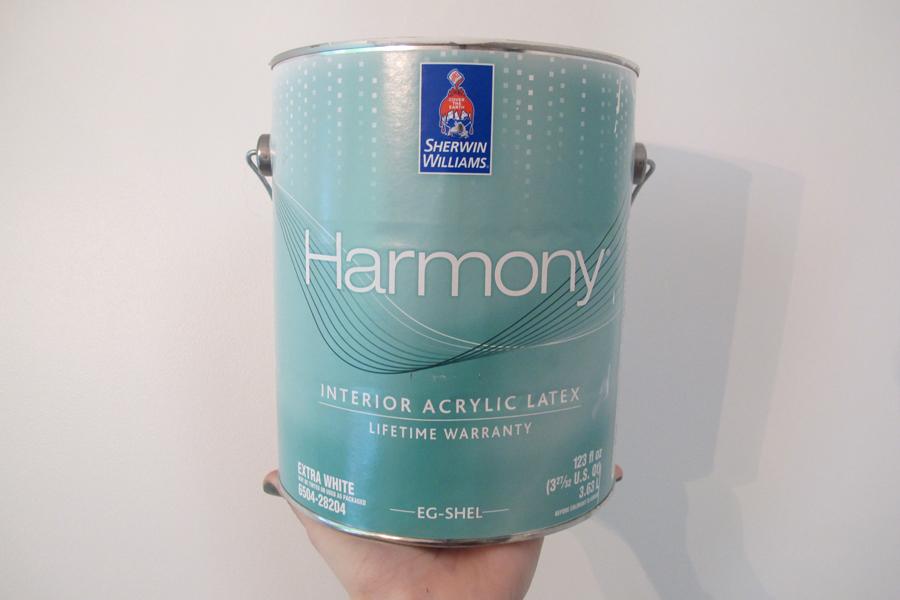 Harmony Zero VOC paint by Sherwin-Williams.
