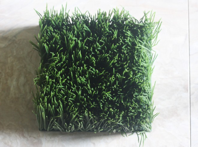 Faux wheatgrass for our mid-century planter?