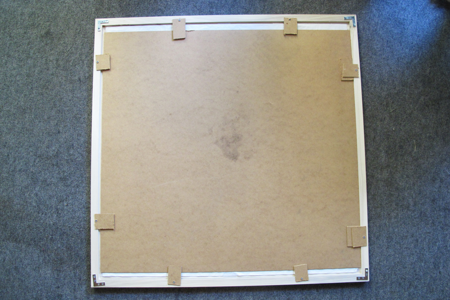 recycled backer board for this large frame