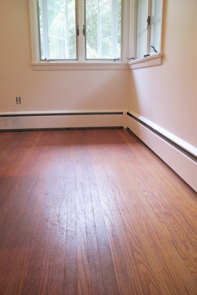 Beautiful light reflecting off the hardwood oak floors.