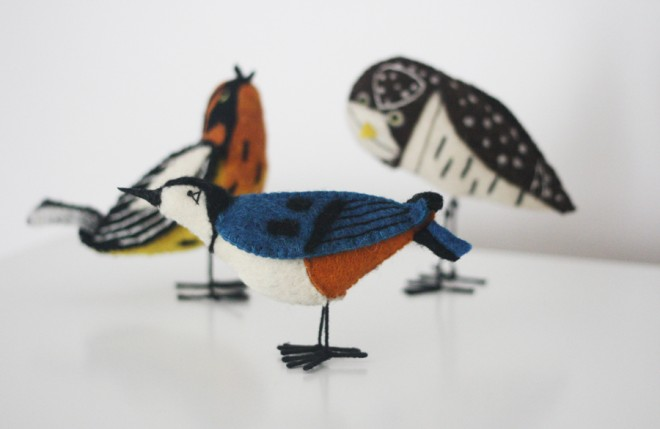 Charley Harper wool birds.