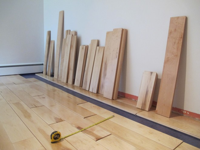 Make quick decisions while flooring: Organize your inventory by length.