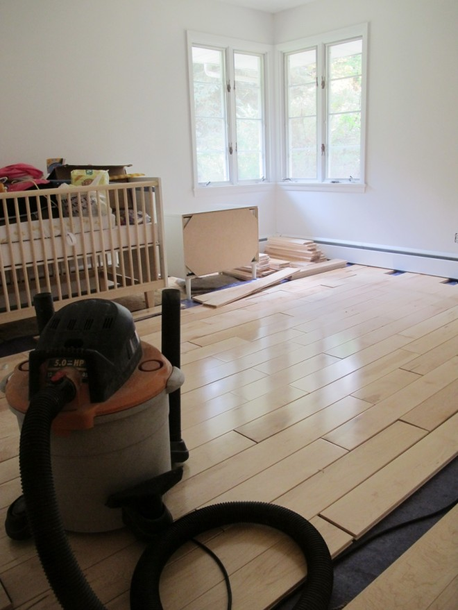 Nursery flooring, racked wonderfully.