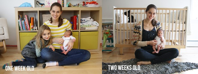 Our baby's weekly photo series has begun!