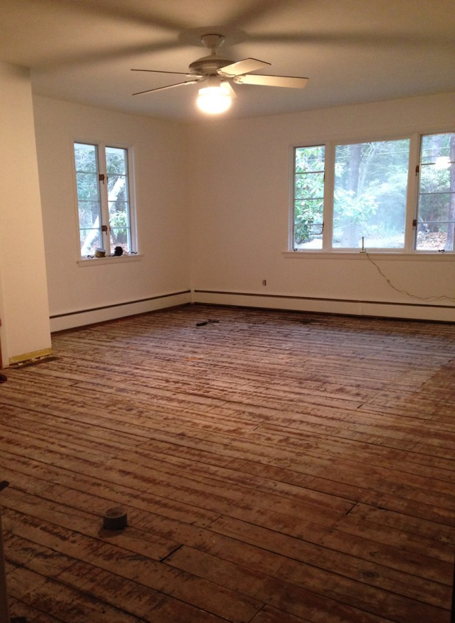 No more carpet in the master bedroom!