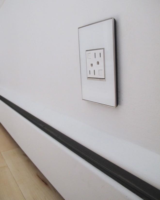 Updating our home with Legrand Adorne outlets and mirror white wall plates