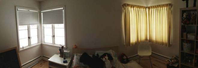 It's a panorama of Julia's bedroom!