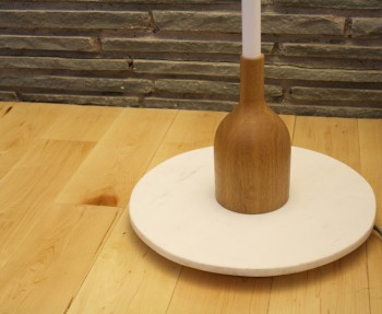 Design by Conran lamp for JCPenney. Beautiful wooden and marble base.