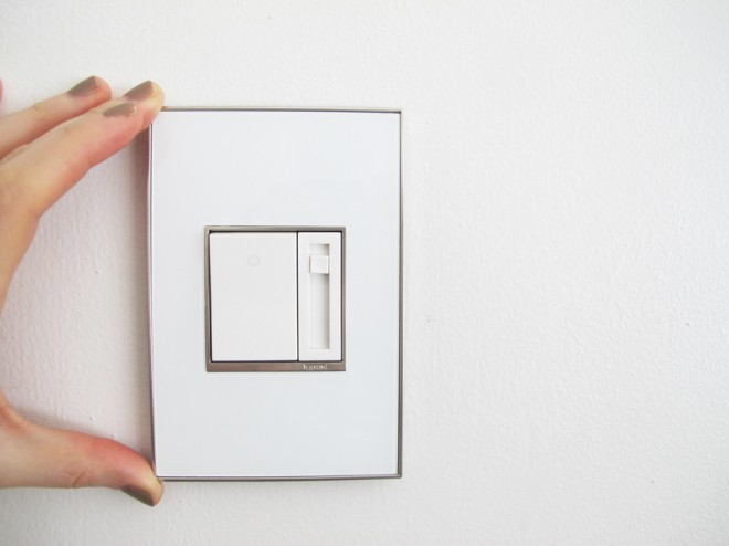 adorne Dimmer paddle switch from Legrand.