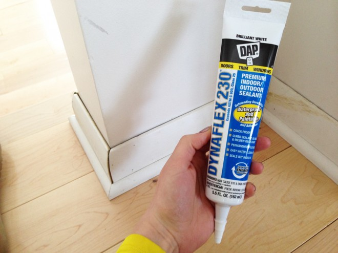 New DAP tube, to the caulking rescue. Perfect for fine finishing work!