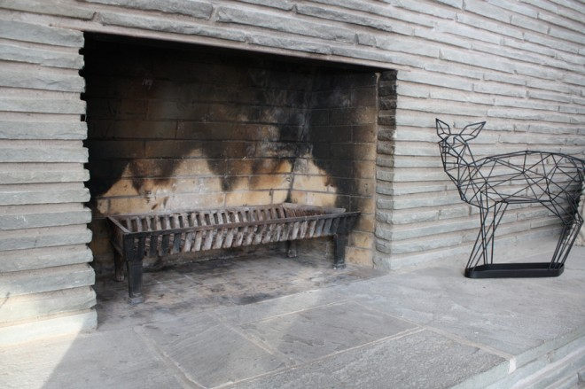 Cleaned out fireplace.