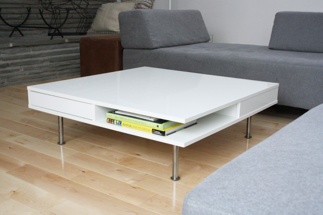 Welcome home, pretty white coffee table.
