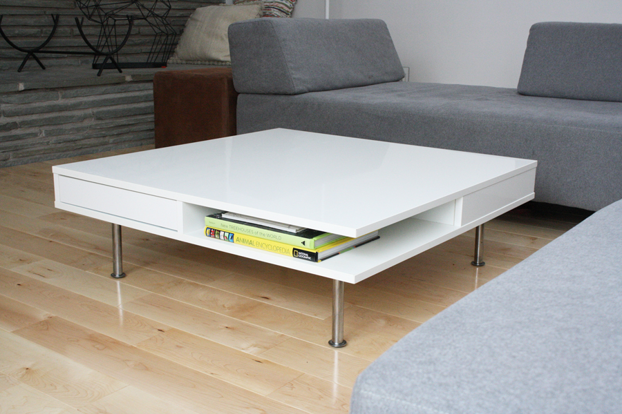 Welcome Home Pretty White Coffee Table