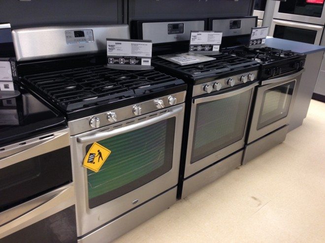 Inexpensive gas ranges at Sears! I want them all.