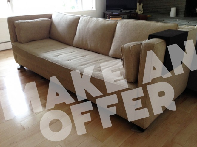 Make an offer! Sofa for sale.